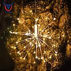 Гирлянда Одуванчик, Фейерверк, 50 LED, 25 нитей, Золотая (Желтая), проволока, 1шт., от сети., фото 2