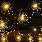 Гирлянда Одуванчик, Фейерверк, 50 LED, 25 нитей, Золотая (Желтая), проволока, 1шт., от сети., фото 10
