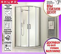 Душевая кабина полукруглая 80х80 см Santeh 1901800 двери раздвижные