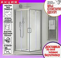 Душевая кабина 100х100 см квадратная Santeh 1902100 двери раздвижные
