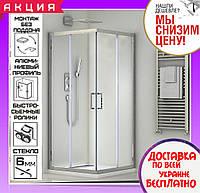 Душевая кабина 80х100 см прямоугольная Santeh 1902810 двери раздвижные