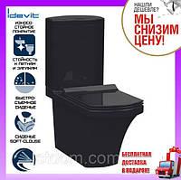 Унитаз-компакт с сиденьем Soft Close Idevit Vega SETK2804-0306-071-1-0000 черный