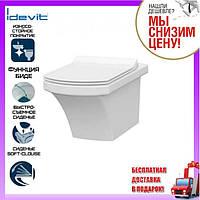 Подвесной унитаз с функцией биде Idevit Vega 2804-0305 сиденье Slim soft-close