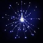 Гирлянда Одуванчик, Фейерверк, 250 LED, 25 нитей, Белая, проволока, 5шт., 2м., от сети., фото 3