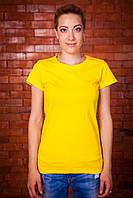 Футболки женские 44, желтый, 100% хлопок