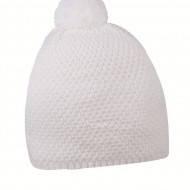 Вязаная белая шапка женская с пампоном от торговой марки Cofee