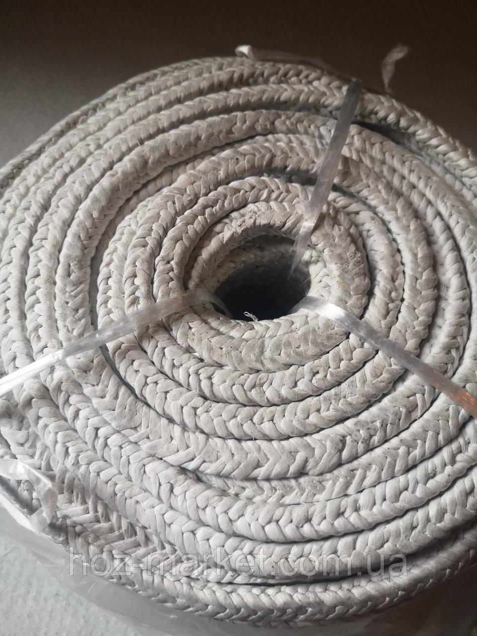 Азбестовий шнур плетений АС 14х14мм для котлів