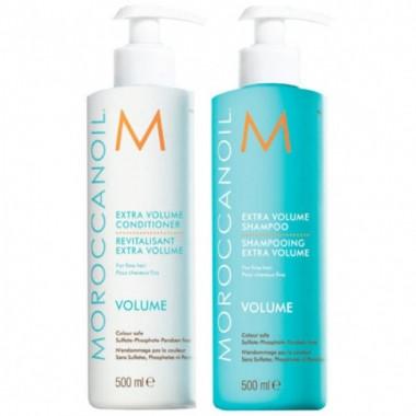 Шампунь + Кондиционер для объема Moroccanoil Extra Volume Shampoo 2X500 мл.