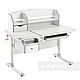 Комплект стіл-трансформер Sognare Grey + ортопедичне крісло Bravo Green FunDesk, фото 2