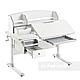Комплект стіл-трансформер Sognare Grey + ортопедичне крісло Bravo Green FunDesk, фото 6