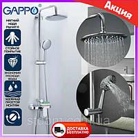 Душевая система Gappo Furai G2419 с верхним тропическим душем. Душевая стойка со смесителем
