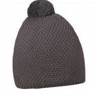Тёплая шапка вязаная с пампоном унисекс производитель Cofee