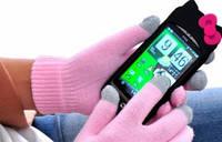 1015 перчатки для сенсорных экранов купить розовые, фото 1