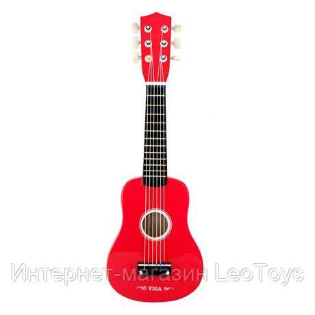 Музична іграшка Viga Toys Гітара, червоний (50691)