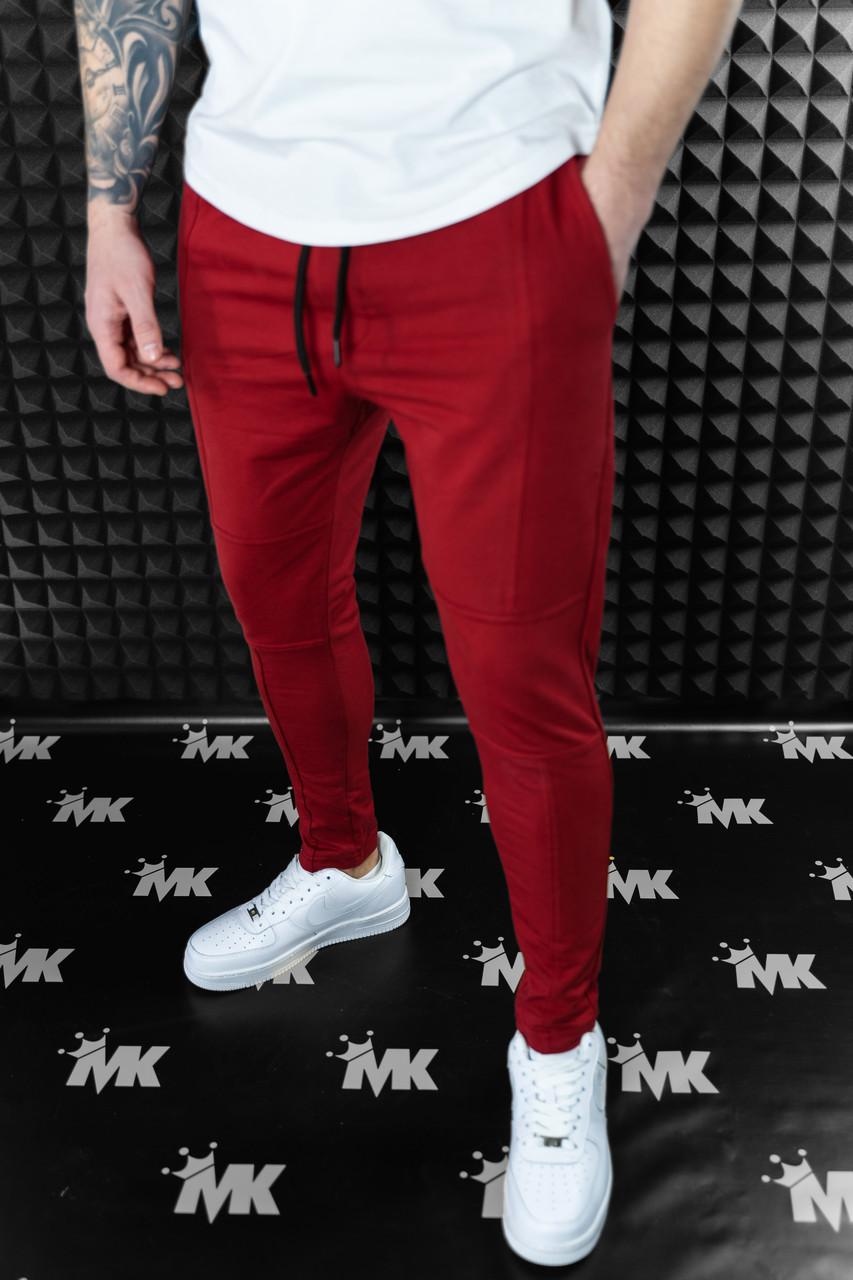 Мужские штаны зауженные черные / Турция Красный, XL