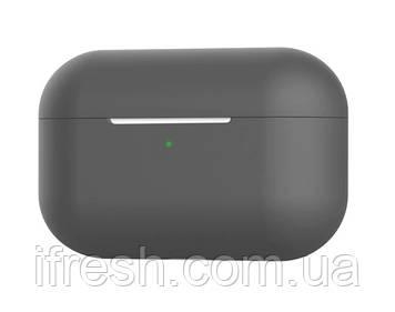 Чехол силиконовый для наушников Apple Airpods Pro, силикон, разные цвета Серый