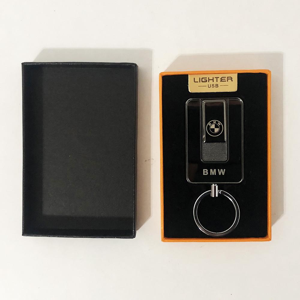 Зажигалка спиральная USB-811. BMW. Цвет: черный