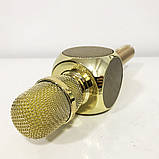 Беспроводной Bluetooth Микрофон для Караоке Микрофон DM Karaoke Y 63 + BT. Цвет: золотой, фото 6