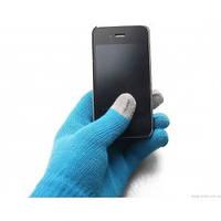 1013 перчатки для телефона с сенсорным экраном голубые
