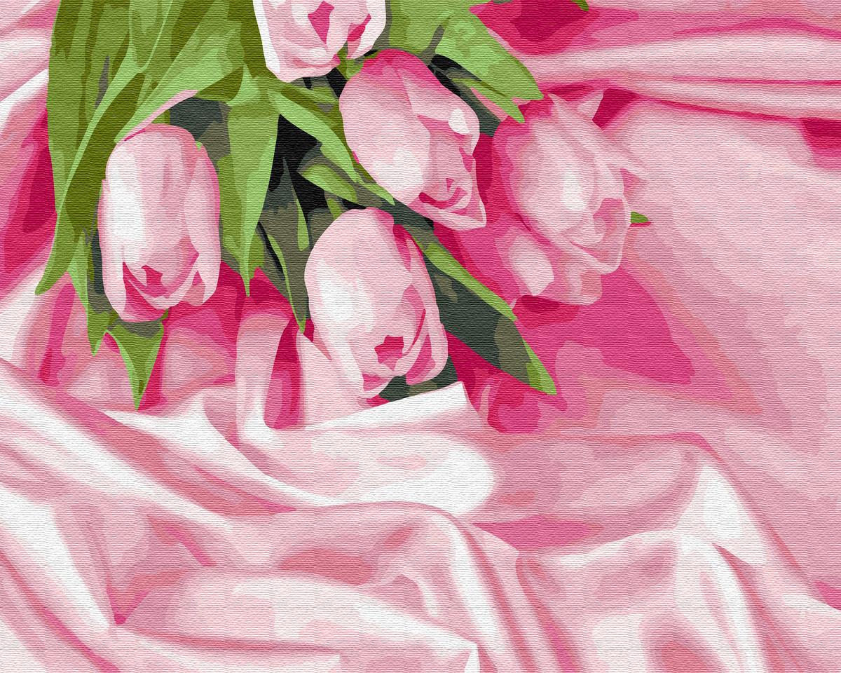 BK-GX34760 Раскраска по номерам Тюльпаны в шелке, Без коробки