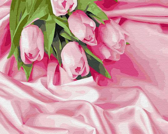 BK-GX34760 Раскраска по номерам Тюльпаны в шелке, Без коробки, фото 2