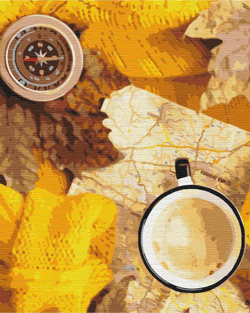 BS51347 Раскраска по номерам Осеннее путешествие, Без коробки