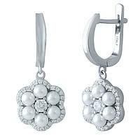 Срібні сережки DreamJewelry з штучним перлами (1980392), фото 1