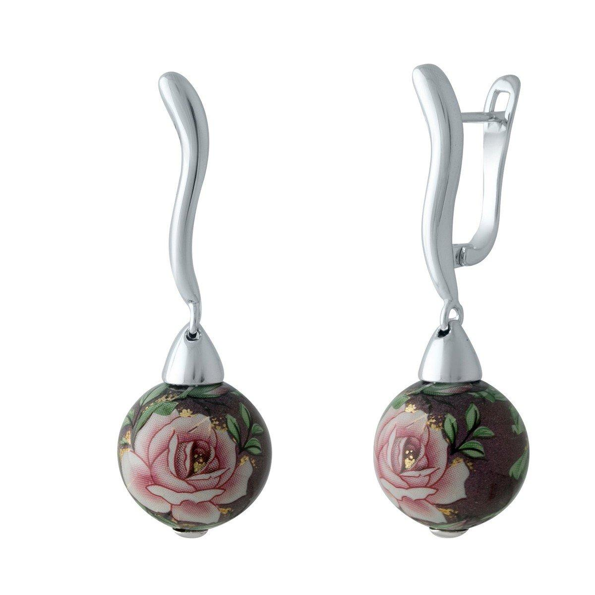 Срібні сережки DreamJewelry з емаллю (2004042)
