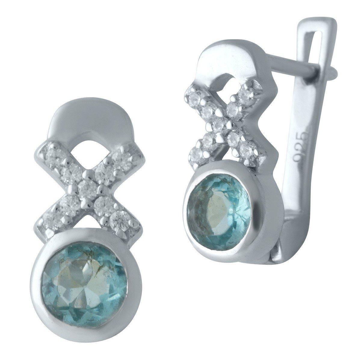Срібні сережки DreamJewelry з аквамарином nano (2012498)