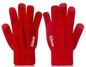 1014 перчатки для экрана телефона красные, фото 1