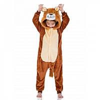 Детская пижама кигуруми Лев 110 см