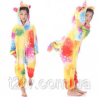 Детская пижама кигуруми Единорог Звездное настроение 140 см