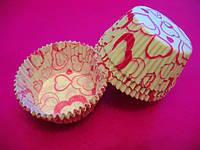 Тарталетки (капсулы) бумажные для кексов, капкейков сердечки