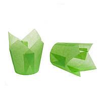"""Бумажные формы для кексов """"Тюльпан"""" 50х75 мм, зеленые"""