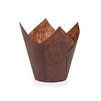 """Бумажные формы для кексов """"Тюльпан"""" 50х80мм, коричневые"""