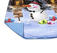 """Двоспальний комплект (Ранфорс)   Постільна білизна від виробника """"Королева Ночі""""   Сніговик на блакитному, фото 4"""