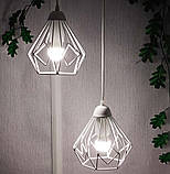 Подвесная люстра на 5-ламп SKRAB-5G E27 на круглой основе, белый, фото 2