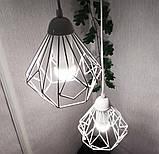 Подвесная люстра на 5-ламп SKRAB-5G E27 на круглой основе, белый, фото 3
