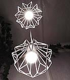 Подвесная люстра на 5-ламп SKRAB-5G E27 на круглой основе, белый, фото 4