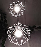 Подвесная люстра на 3-лампы SKRAB-3 E27 белый, фото 5