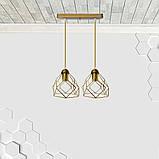 Подвесная люстра на 2-лампы RUBY-2 E27 золото, фото 2