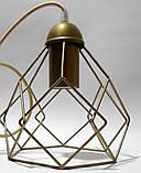 Подвесная люстра на 2-лампы RUBY-2 E27 золото, фото 4