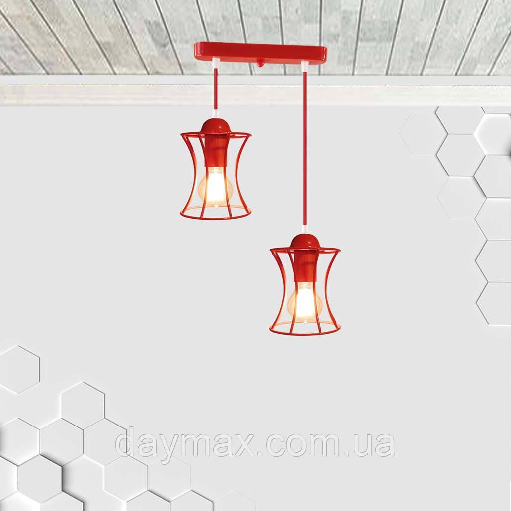Подвесная люстра на 2-лампы SANDBOX-2 E27 красный