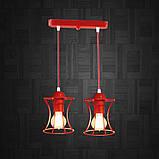 Подвесная люстра на 2-лампы SANDBOX-2 E27 красный, фото 2