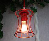 Подвесная люстра на 2-лампы SANDBOX-2 E27 красный, фото 3