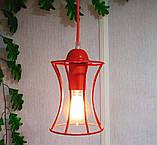 Подвесная люстра на 2-лампы SANDBOX-2 E27 красный, фото 5