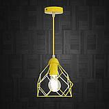 Подвесной светильник RUBY E27 желтый, фото 3