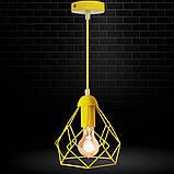 Подвесной светильник RUBY E27 желтый, фото 7