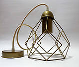 Подвесной светильник RUBY E27 золото, фото 4