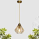 Подвесной светильник SKRAB E27 золото, фото 10